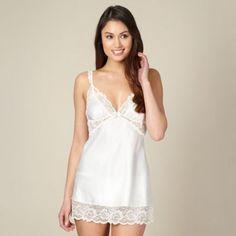 Reger by Janet Reger Designer ivory lace chemise- at Debenhams.com