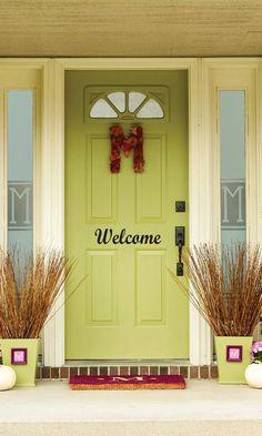 WELCOME Vinyl Front Door Decal. $8.00, via Etsy.