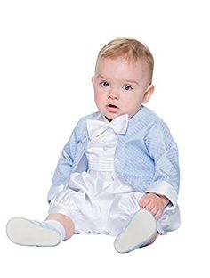 90de6abb6 White Baby Boys Christening Outfit Romper Vivaki, Boys Blue & White Romper  Suit, Vivaki, Boys Christening Outfit, Baby Vivaki, Boys Romper Suit, ...