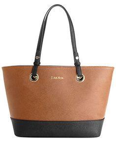 Calvin Klein Handbag, Leather Tote - Handbags & Accessories - Macy's