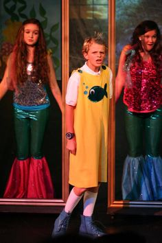 Flounder with Mermaid sisters in Disney's The Little Mermaid