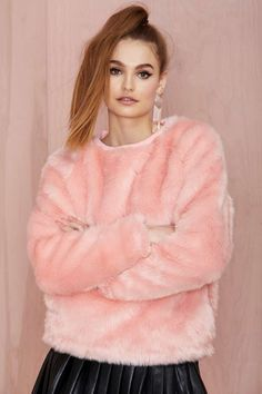 Joyrich Candy Faux Fur Sweatshirt | Shop Clothes at Nasty Gal