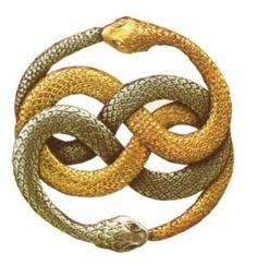 Auryn symbols from the never ending story, means having knowledge, the infinite cycle of natures endless creation and destruction, life and death and despair