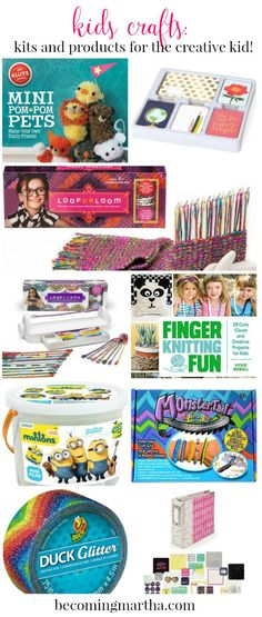 Have a creative kid who wants to dive into the world of crafting? Here are some great kits, books, and products that will be perfect for creating kids crafts!