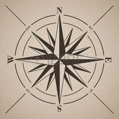 rose des vent: Compass rose. Vector illustration.