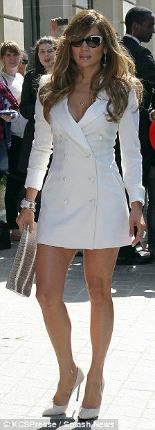Jennifer Lopez Mini Skirt | The American Idol judge was en route to the Fun Radio studios in the ...