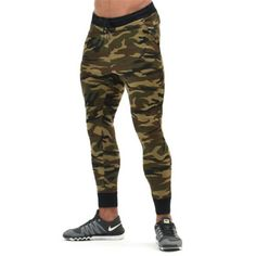 ff1c4e661829 Men s Runs Camo footballs Soccers Pants Leggings Fitness Joggings Trouser  Tights active Trainings Gyms Clothing male Camouflage-in Sweatpants from  Men s ...