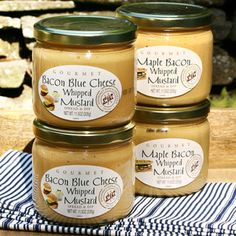 I bet they're yummy!    Bacon Mustards, $30, now featured on Fab.