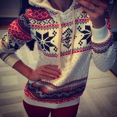Best selling Women Hoody with Snowflake Print