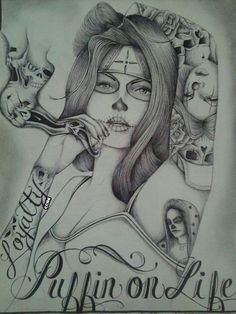 Chicano Lettering, Graffiti Lettering, Graffiti Art, Chicano Drawings, Chicano Art, Cherub Tattoo Designs, Girly Skull Tattoos, Azteca Tattoo, Gangster Tattoos