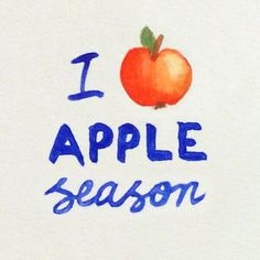 @rebecca_feiner_designI love apple season #healthymotivation #healthymarketing #watercolourtypography