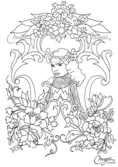 50s Coloring Page made by Masja van den Berg - featuring 1 hand-drawn design for you to bring to life with color! Do you love the 50s, flowers and