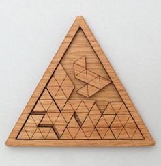Wooden Triangles Geometric Puzzle
