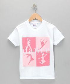 Dance World Bazaar White Dance Ballerina Tee - Girls & Women | zulily