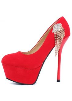 Special Side Cut Out Red Sole High Heels Black on sale only US