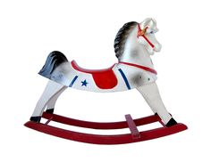 Vintage ROCKING HORSE Happitime Hobby Horse by Sears Roebuck & Co.
