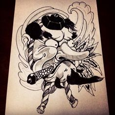 japanese tengu mask tattoo - Google Search