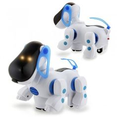 Blue Robotic Electronic Walking Pet Dog Puppy Kids Toy With Music Light Model 1