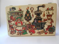 Vintage Potpourri Press Christmas Tin Cute by peonyexpressions