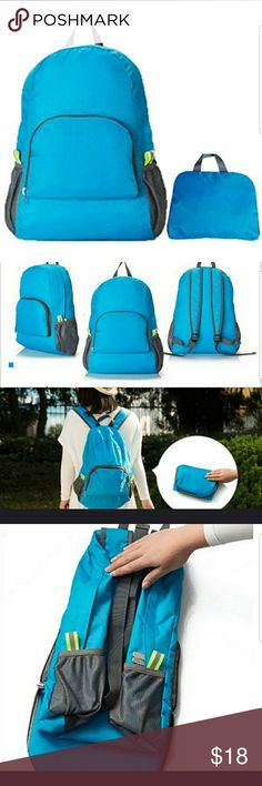 NYLON FOLDABLE BACKPACK 🎈SALE Awesome portable folding backpack. Women or  men. Lots of e04d850464db5