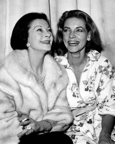 Vivien Leigh and Lauren Bacall