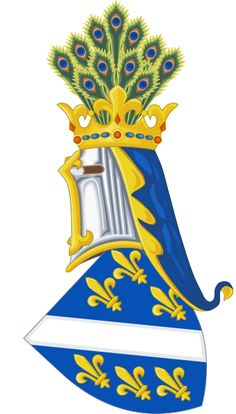 Coat of Arms- peacock feathers, fleur-de-lis Kotromanic High Middle Ages, What Is Today, Princess And The Pea, Historical Images, Serbian, National Flag, Bosnia And Herzegovina, Coat Of Arms, Herb