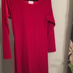 Long sleeve red velvet dress Long sleeve red velvet. Mini dress Dresses Long Sleeve