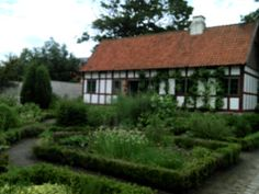 Hjørring, DK, the house N5 from history museum and part from botany garden