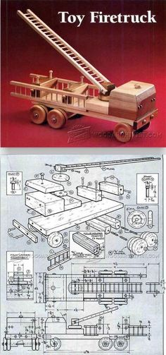 Wooden Fire Truck Plans - Children's Wooden Toy Plans and Projects   WoodArchivist.com