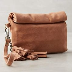 """Anthropologie Clutch """"Gietro Rolled Pouch"""" / one size / brand new, never used, with tags Anthropologie Bags Clutches & Wristlets"""