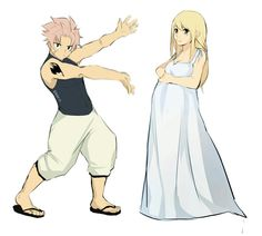 Look at what I did! Natsu shouts