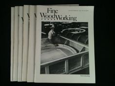 Vintage Fine WoodWorking Magazines Lot 6 1981 Back by RHWTreasures, $29.95