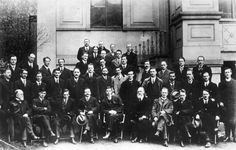 Sinn Fein leaders in 1919. Terence MacSwiney sits on the second row, second from left. (Photo by General Photographic Agency/Getty Images)