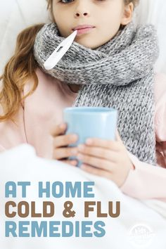 Home flu remedies for my kids recently because let's face it, being sick is miserable.