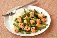 Pikantní tofu s fazolkami a rýží