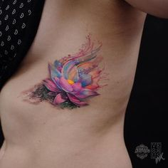Lotus flowers represent purity and are a beautiful tattoo design choice. If you're thinking of getting a lotus tattoo, look at these lotus flower tattoo designs Trendy Tattoos, Cute Tattoos, Beautiful Tattoos, Body Art Tattoos, New Tattoos, Girl Tattoos, Sleeve Tattoos, Tatoos, Stomach Tattoos
