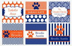 Don't forget to label your dish! These custom Auburn Tags would be perfect for labels at your tailgate!