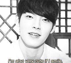 Kim Woo Bin is cute when he smiles. Not kpop but too cute not to pin! Asian Actors, Korean Actors, Korean Dramas, Korean Actresses, Korean Star, Korean Men, Kim Wo Bin, Yoo Ah In, Drama Memes