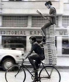 Vintage bike sharing