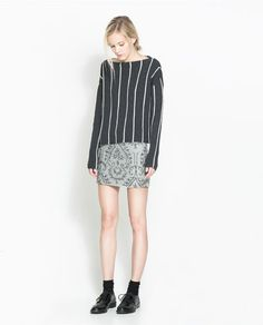 ZARA - TRF - EMBROIDERED AND BEADED SKIRT $50