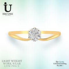 Buy online Glorious yellow gold daily wear ring from Sparkles Diamond Jewellery!!. Buy Ring- daily wear gold ring... Glorious light weight gold ring!