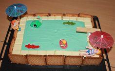 Gâteau piscine... plouf!