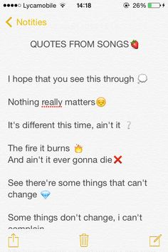 Quotes from songs