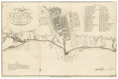 Batavia 1804 City Maps, Jakarta, Designs To Draw, Stock Market, Vintage World Maps, Indie, Graphic Design, Marketing, History