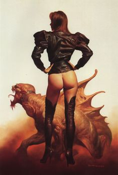 Leather jacket par Boris Vallejo