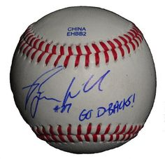 """Arizona Diamondbacks Ryan Wheeler Autographed ROLB Baseball Featuring """"Go D-Backs"""" Inscription! Proof Photo by Southwestconnection-Memorabilia. $44.99. This is a Ryan Wheeler autographed Rawlings official league baseball with """"Go D-Backs!"""" inscription! Ryan signed the ball in blue ballpoint pen. Check out the photo of Ryan signing for us. Proof photo is included for free with purchase. Please click on images to enlarge. 1"""