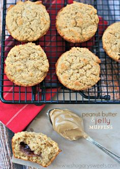 Peanut Butter and Jelly Muffins #recipe
