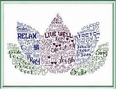 Image result for Pictures in words cross stitch