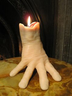 Addams Family THING Candle                                                                                                                                                                                 More