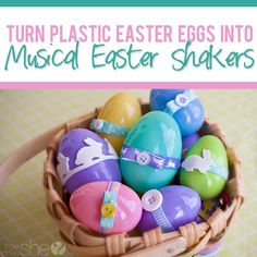 Turn Plastic easter Eggs into Musical Shakers